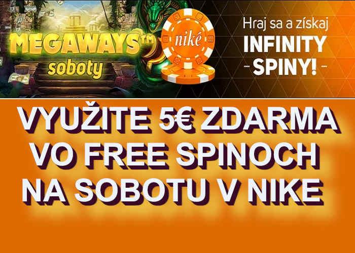 Bonusy NIke kasino bonus Sobota