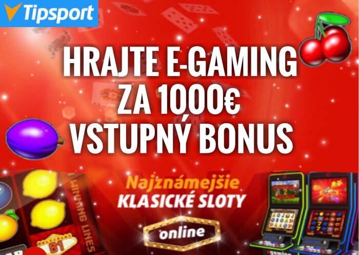 Bonusy Tipsport Egaming Bonus