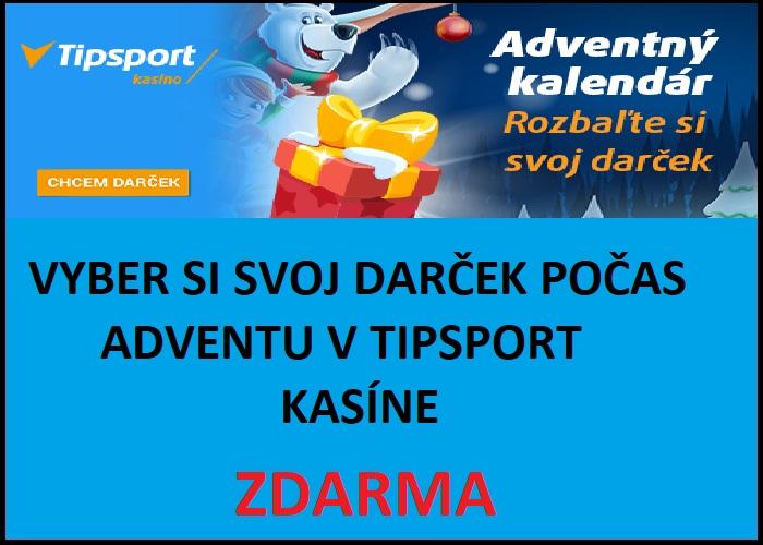 Bonusy TIPSPORT KASINO ADVENT