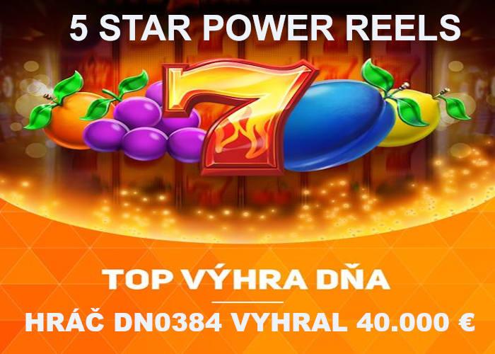 Recenzia 5 star power reels online automat v nike casino