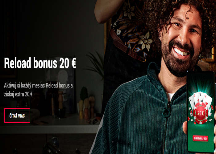 Reload Bonus v Doxxbet kasíno