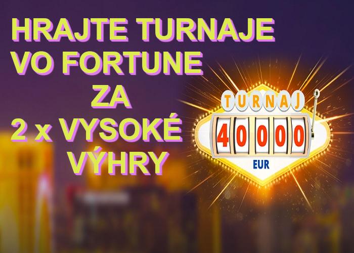 Fortuna online kasino turnaje