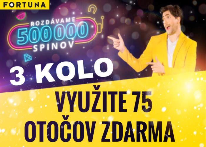 Fortuna kasino bonus free spiny 3 kolo