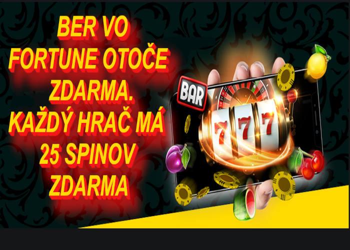 Fortuna kasino rozdáva free spiny všetkým hráčom   hrajte fortuna kasino
