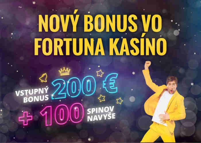 Fortuna kasino bonus 100 otočov zdarma free spinov