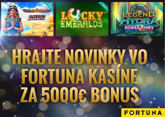 Playtech novinky online automaty vo Fortuna kasíno