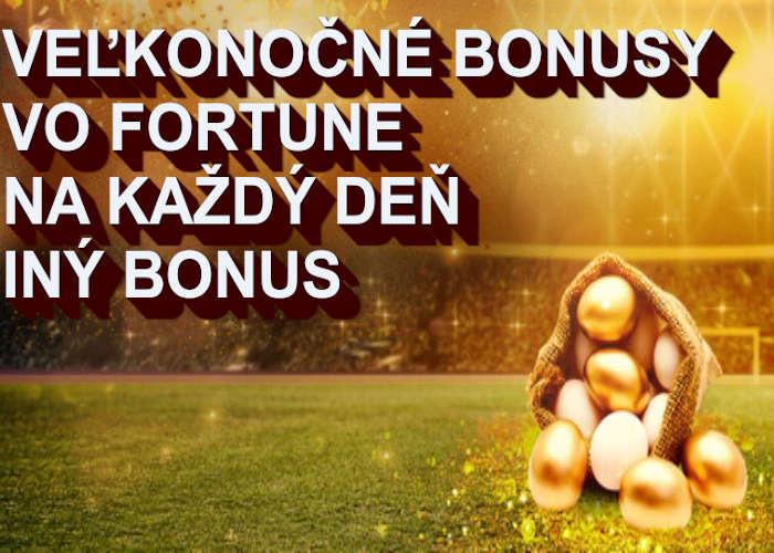 Veľkonočné bonusy vo Fortuna online kasíne