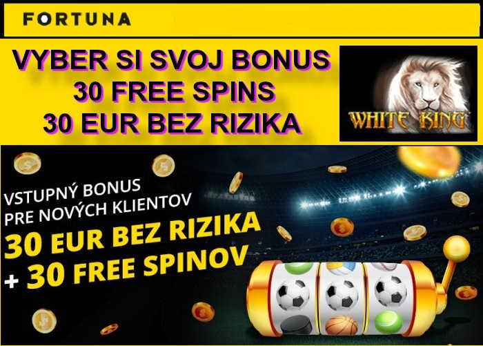 Fortuna Kasino bonus 30 eur zdarma |registruj sa vo Fortuna Online kasino