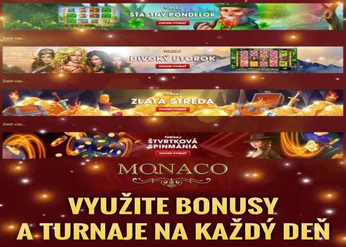turnaje a bonus v Monacobet casino