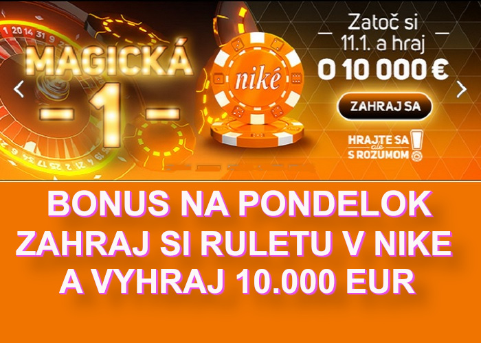 NIKE Online kasino Bonus Ruleta | casino-online.sk