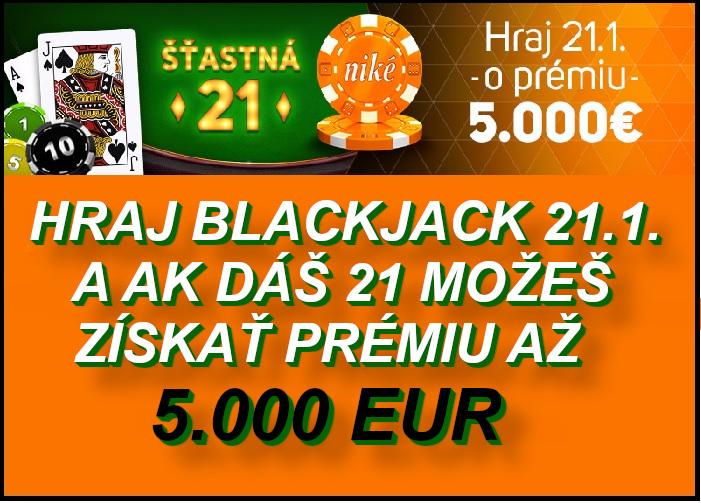 NIKE Kasino bonus Blackjack automat   Hrajte Blackjack zadarmo v NIKE Svet hier   Vyhrajte 5.000 EUR bonus