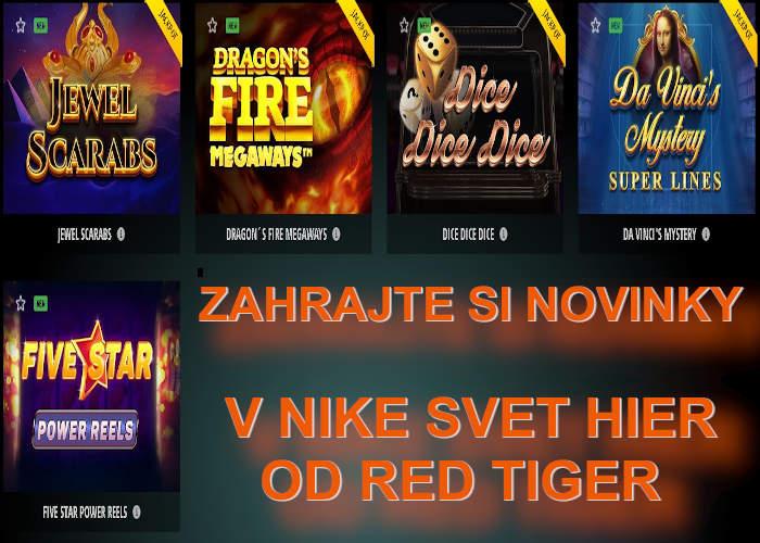 Nové onine automaty v Nike online kasino