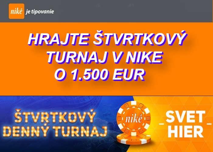 Turnaj v online automatoch v NIKE online kasino | Hrajte s Nike Svet hier turnaje o 1.500 Eur