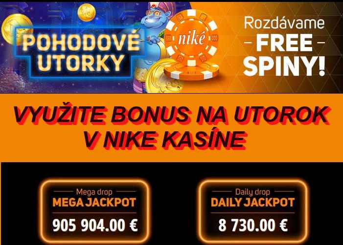 NIke kasíno bonus na utorok free spiny