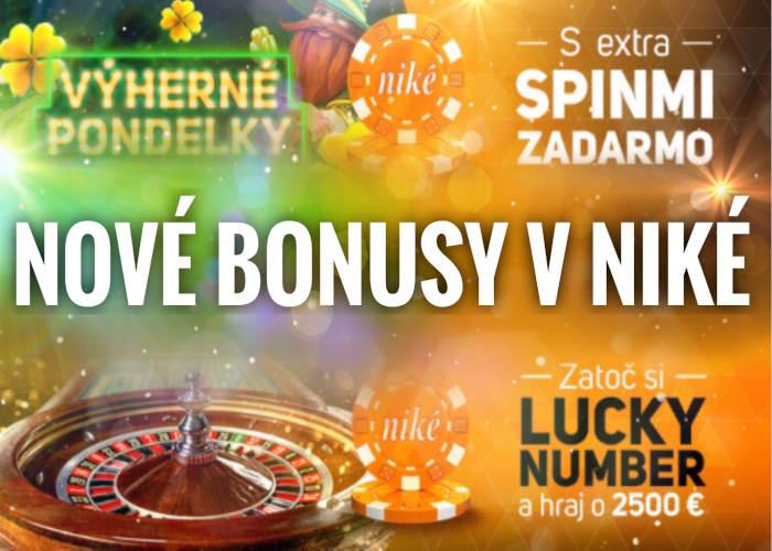 Nové bonusy v Nike kasíno Svet hier