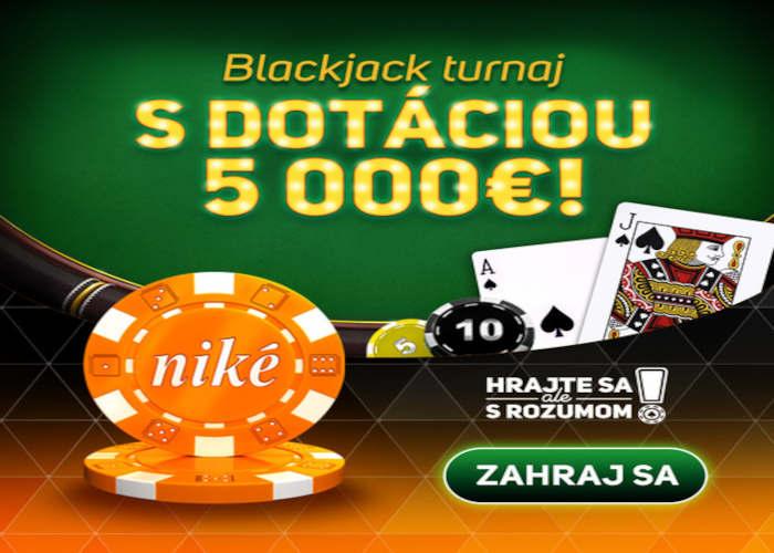 Nike kasino blackjack turnaj