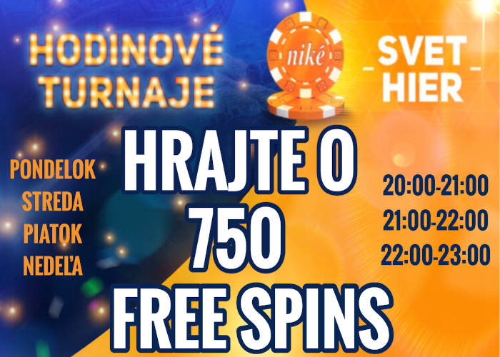 Nike kasino turnaje každý deň o 750 free spins