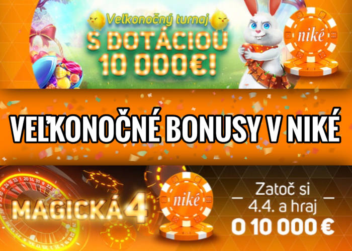 Veľká noc v Nike kasíno bonus o 10.000€
