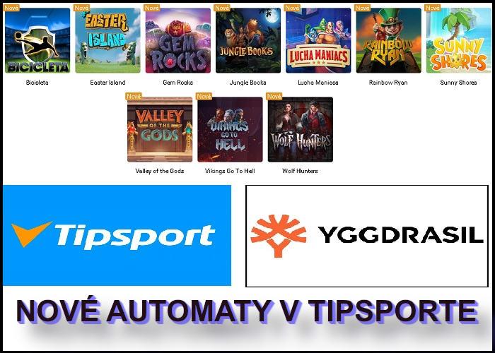 Nové online automaty v Tipsport kasíno