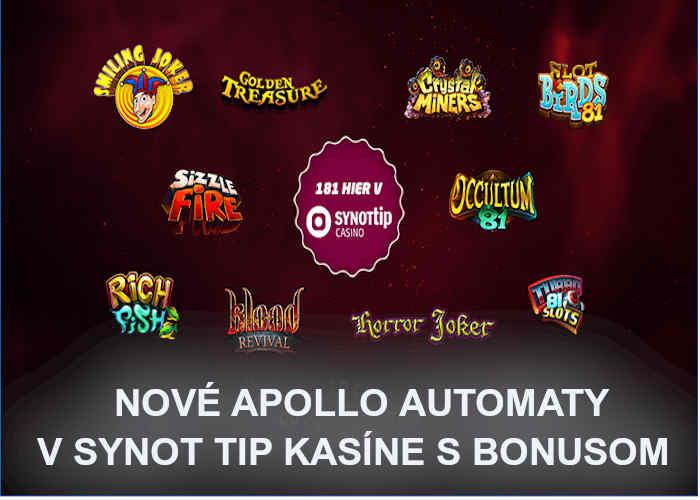 Apoolo automaty Synot Tip kasino