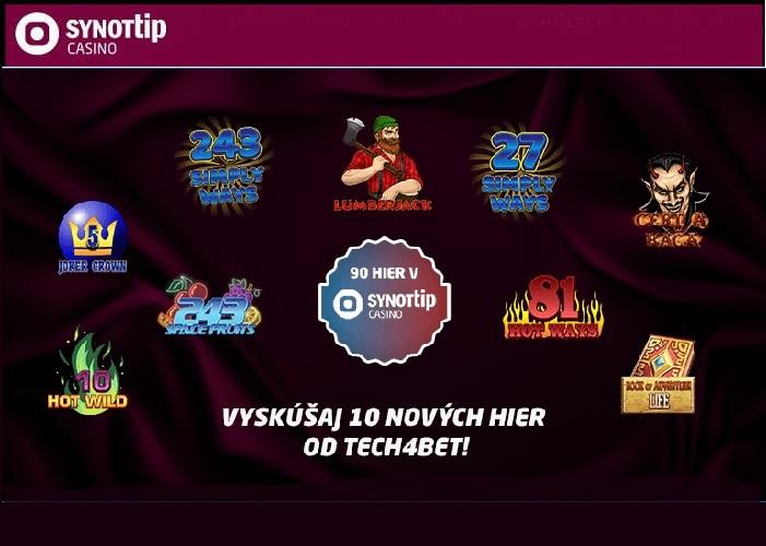 Synot tip onine kasino nové online automaty Tech4Bet | Hrajte Synot Tip kasino