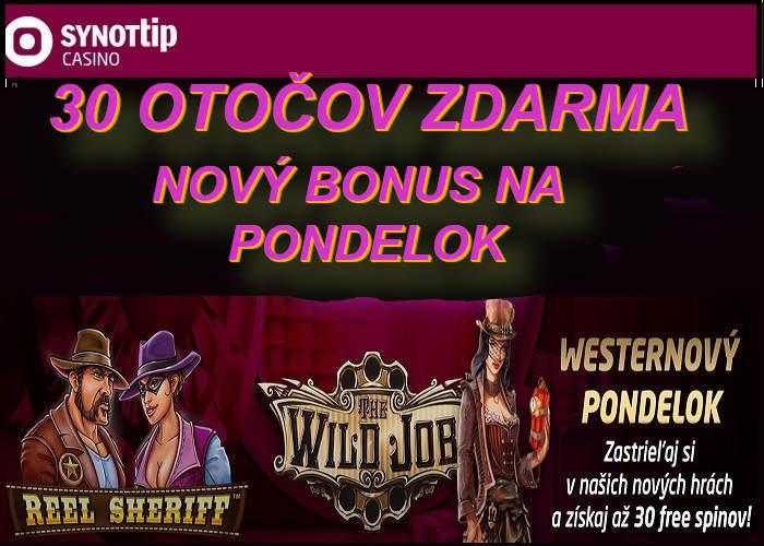 Novy kasino online bonus v Synot Tip kasine | Hrajte Synotitip kasino zdarma