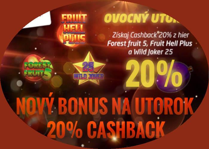 SynotTIP kasino novy bonus na utorok