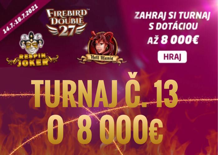 SynotTip kasino turnaj v hraní online automatov číslo 13