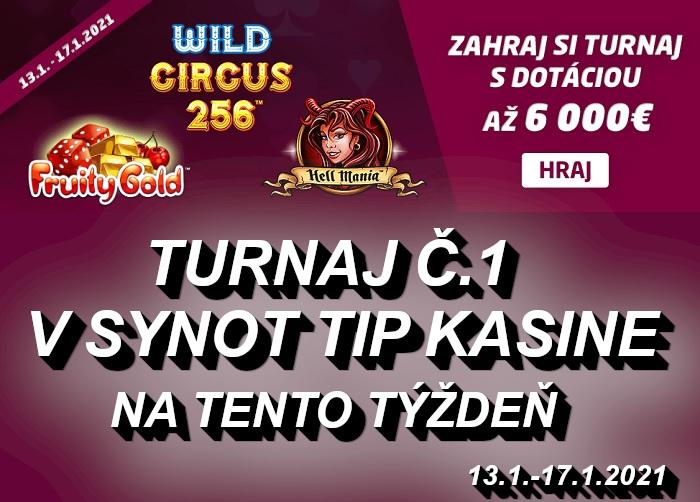 SynotTip Turnaj 1 v online kasine   casino-online.sk