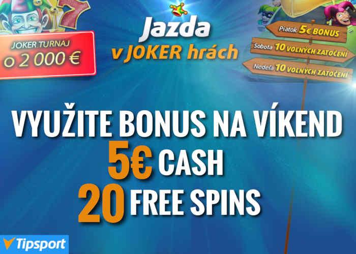 Tipsport casino bonus Joker
