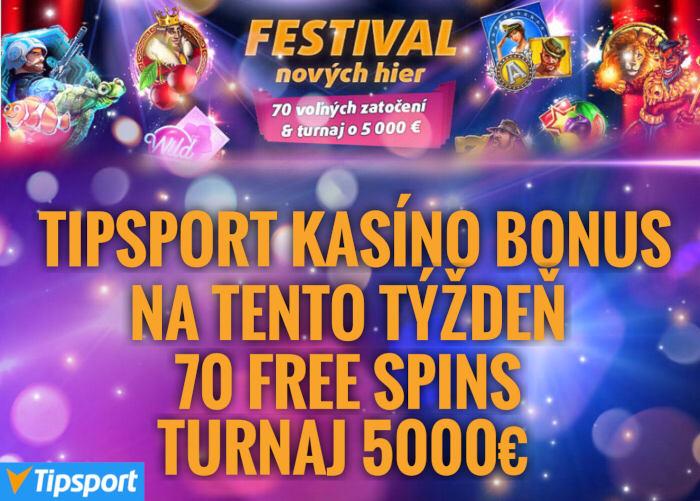 Tipsport Online casino bonus free spiny s novinkami Synot