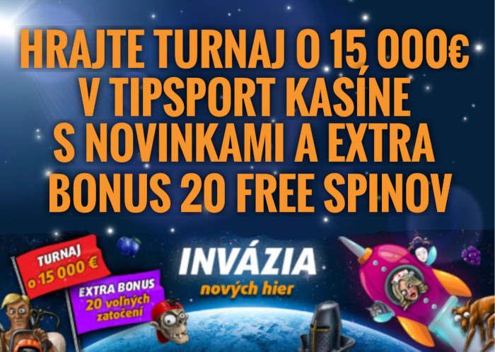 Tipsport kasino bonusový turnaj s Adell novinkymi o 15000 €