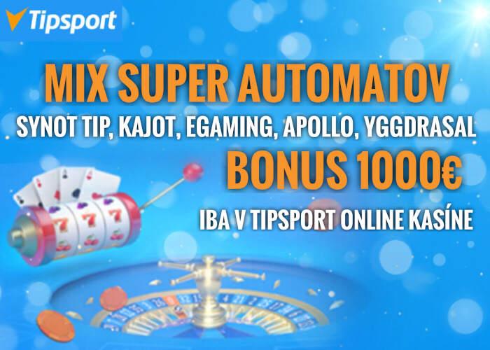 Najlepšie online automaty sú v Tipsport kasíno