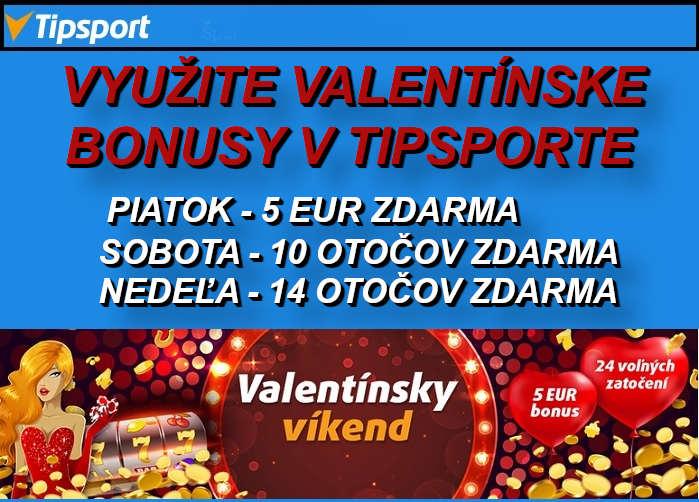 Valentinsky bonus v Tipsport online kasino   Vyuzite bonusy v Tipsporte zdarma