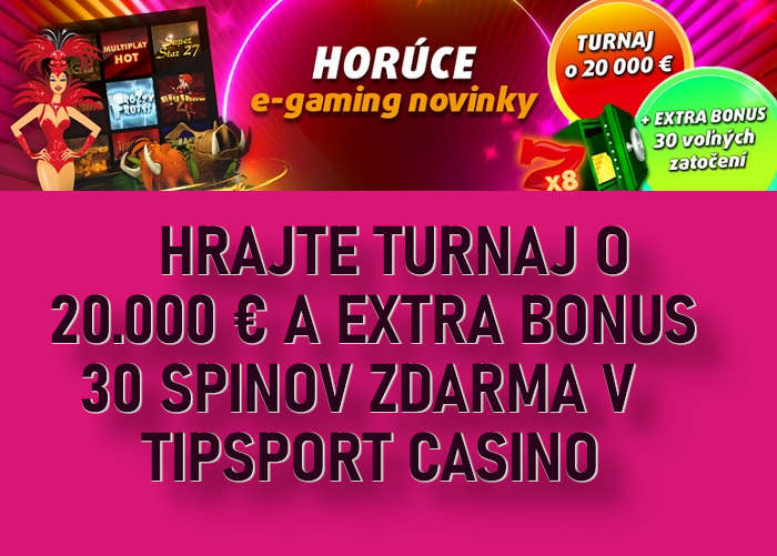 Tipsport kasino turnaj a free spins