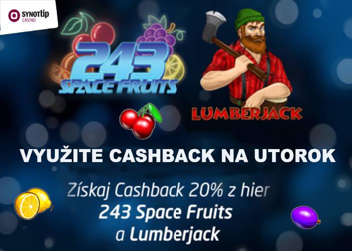 Cashback bonus v Synot tip Casino   Využite peniaze naspať
